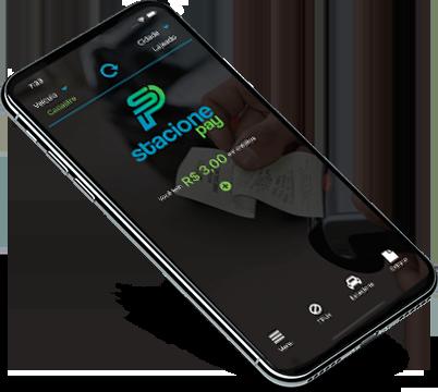Celular demonstrando app da rekpay.
